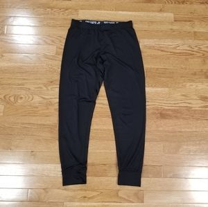 Pink black stretchy joggers S